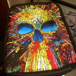 TRIPPY SKULL LUNCH BAG - Carry case lunchbox NEW